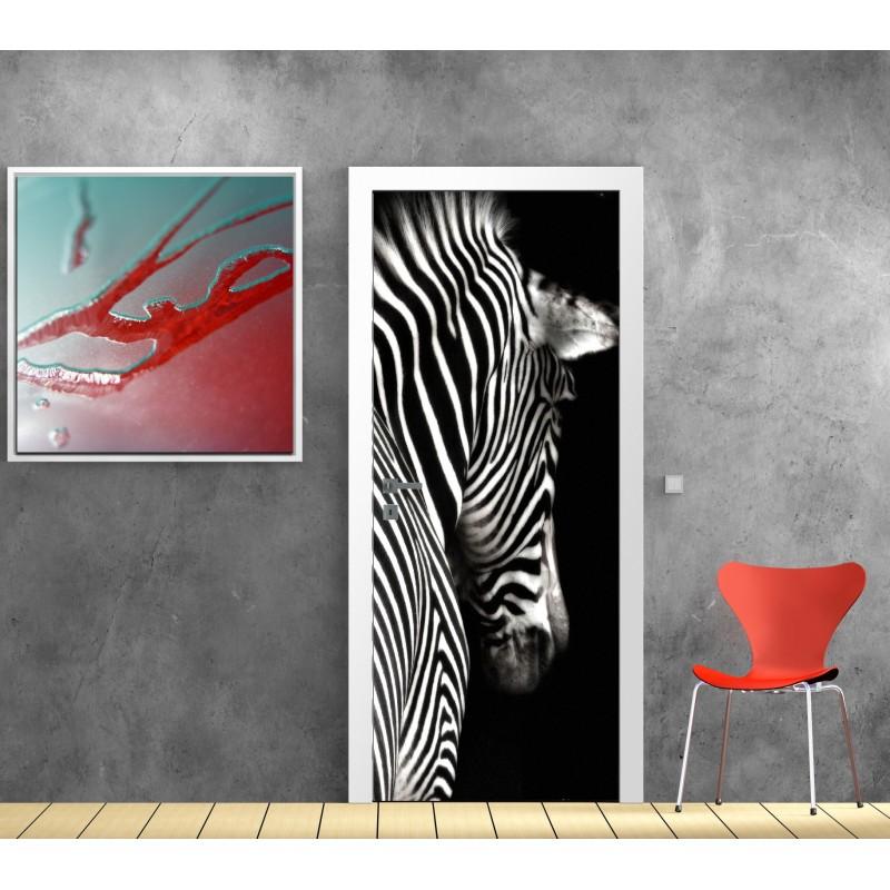 papier peint porte d co z bre art d co stickers. Black Bedroom Furniture Sets. Home Design Ideas