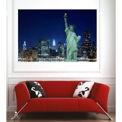 Affiche poster ville statue de la liberté