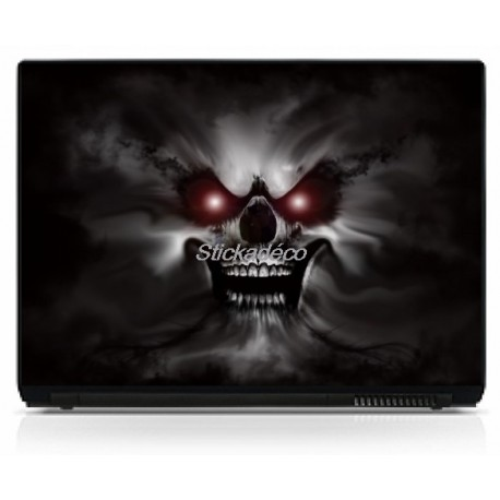 Stickers Autocollants PC portable Skull 9
