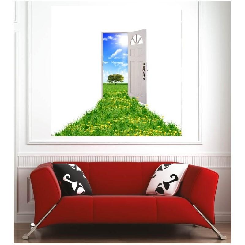 Affiche poster porte ouverte vers l 39 ext rieur art d co for Porte affiche exterieur