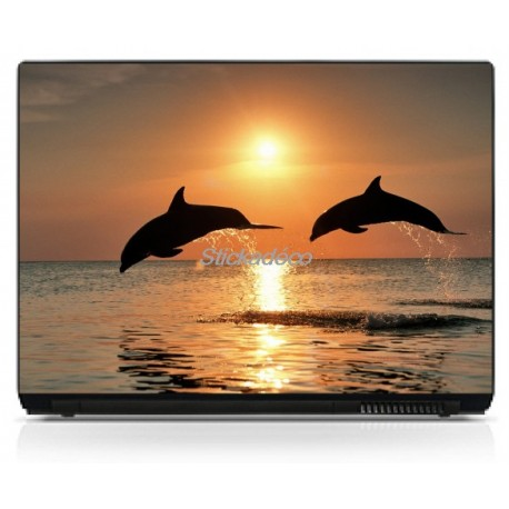 Stickers Autocollants PC portable Dauphins 1