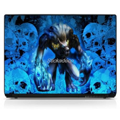 Stickers Autocollants PC portable Skull 10