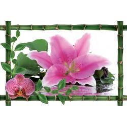 Sticker Bambou déco Fleur