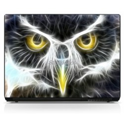 Stickers Autocollants PC portable Hibou