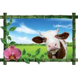 Sticker Bambou déco Vache