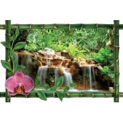 Sticker Bambou déco Cascade