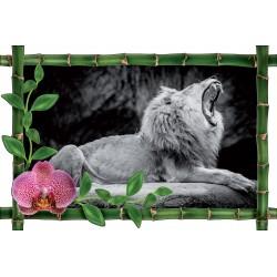 Sticker Bambou déco Lion