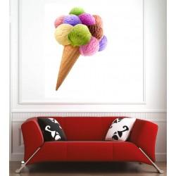 Affiche poster cornet de glace