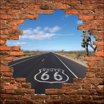 Sticker mural trompe l'oeil route 66 New York