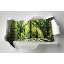 Sticker Trompe l'oeil bambou