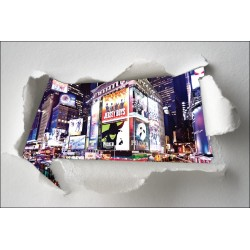 Sticker Trompe l'oeil New York
