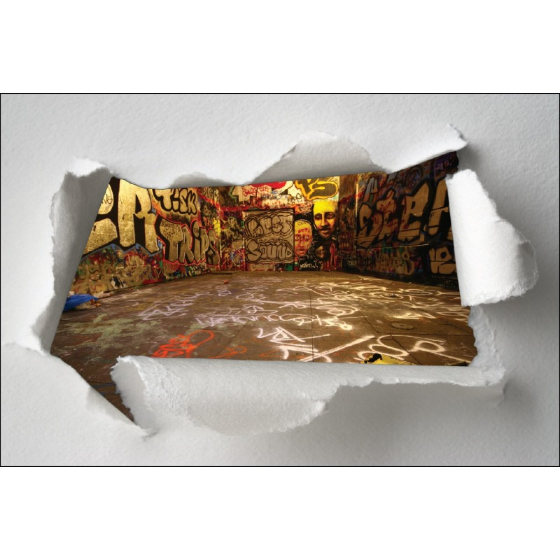 Wall stickers trompe l/'oeil graffiti tag ref 8509
