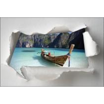 Sticker Trompe l'oeil barque