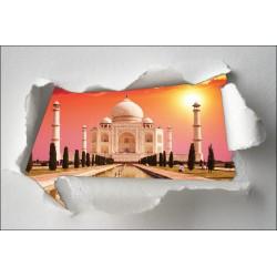 Sticker Trompe l'oeil Taj Mahal
