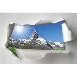 Sticker Trompe l'oeil montagne