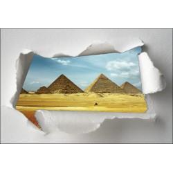 Sticker Trompe l'oeil pyramide