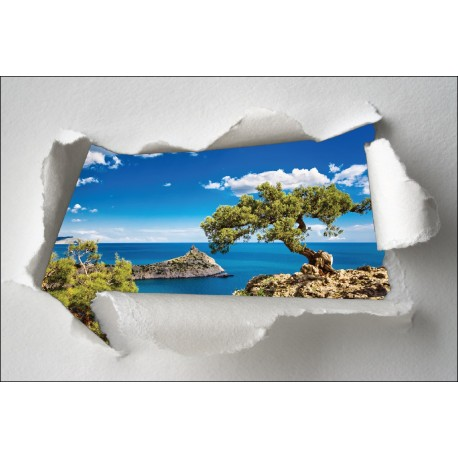 Sticker Trompe l'oeil mini île