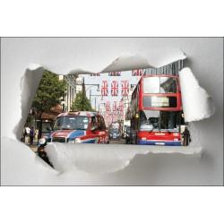 Sticker Trompe l'oeil bus Londres