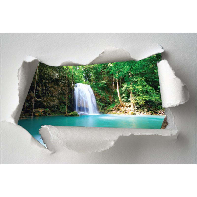 sticker trompe l 39 oeil cascade art d co stickers. Black Bedroom Furniture Sets. Home Design Ideas