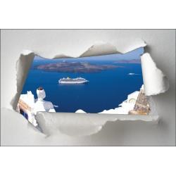 Sticker Trompe l'oeil vue sur la mer