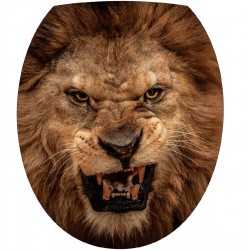 Stickers WC, stickers abattant de WC rugissement lion