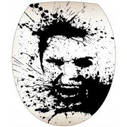 Stickers WC, stickers abattant de WC portrait
