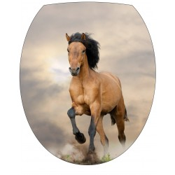 Stickers WC, stickers abattant de WC cheval