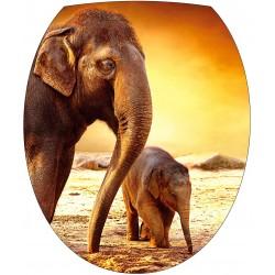 Stickers WC, stickers abattant de WC éléphant