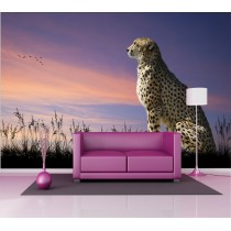 Stickers géant déco : jaguard de profil