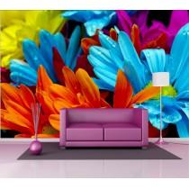 Stickers géant déco : fleurs multicolores
