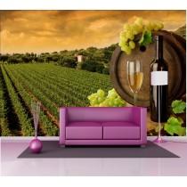 Stickers géant déco : vignes