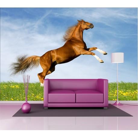 Stickers géant déco : saut cheval