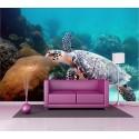 Stickers géant déco : tortue de mer