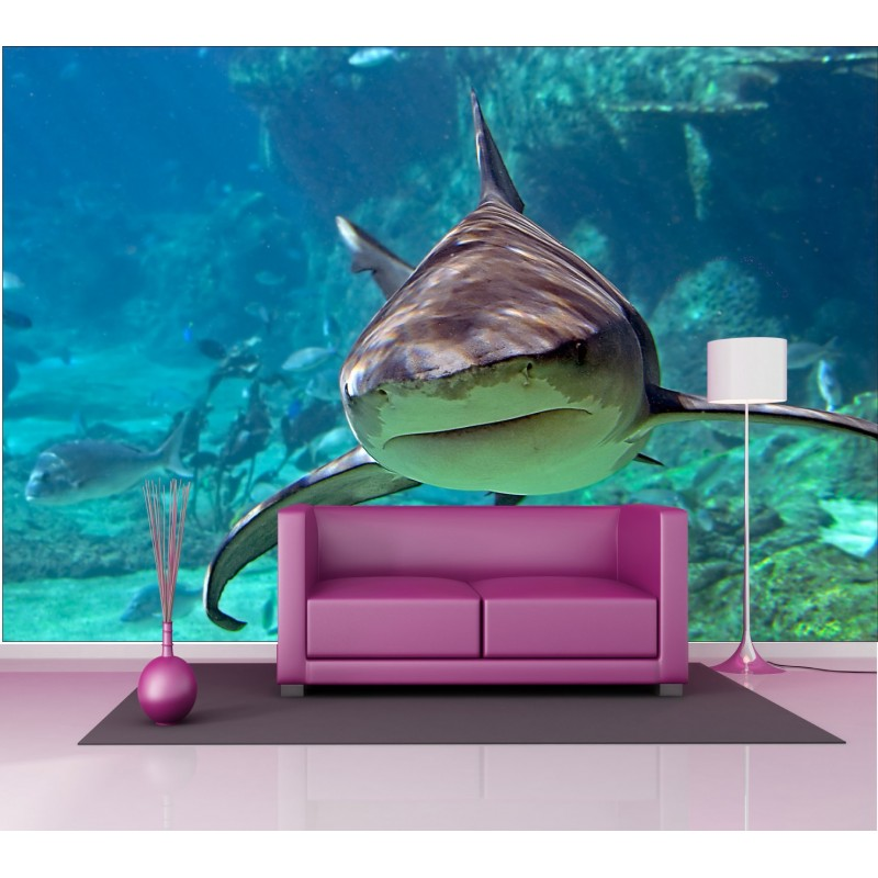 stickers g ant d co requin art d co stickers. Black Bedroom Furniture Sets. Home Design Ideas