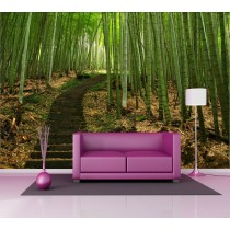 Stickers géant déco : chemin bambou