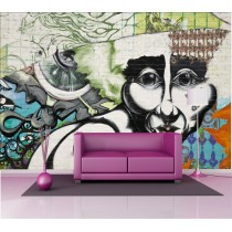 Stickers géant déco : tag grafitti portrait