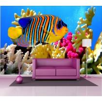 Stickers géant déco : poisson multicolore