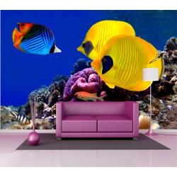 Stickers géant déco : poissons tropicaux