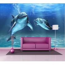Stickers géant déco : dauphins