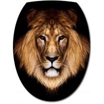 Sticker Abattant de WC Tête de Lion