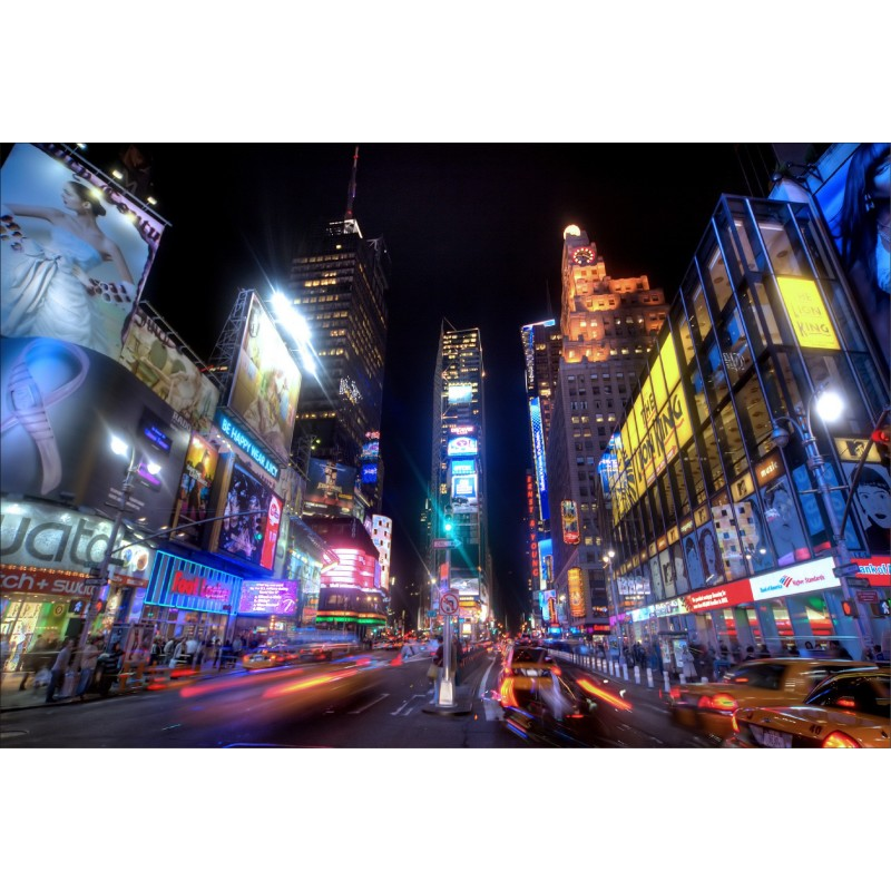 Stickers muraux d co new york la nuit art d co stickers for Autocollant mural new york