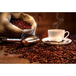 Stickers muraux déco: grain et tasse de café
